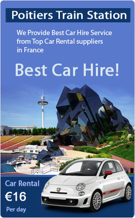 Poitiers Train Station Car Rental